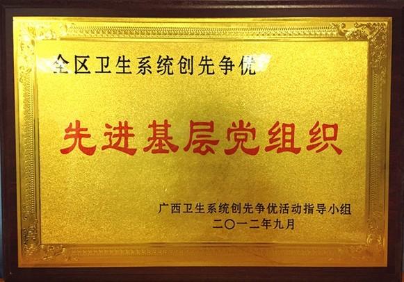 2012年获全区卫生系统创先争优先进基层党组织